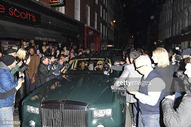 Lady Gaga leaves Ronnie Scott's Jazz Club in Soho, but not before her driver got a parking ticket on June 9, 2015 in London, England.