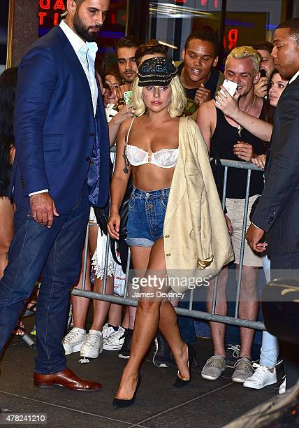 Lady Gaga leaves the Rainbow Room on June 23 2015 in New York City