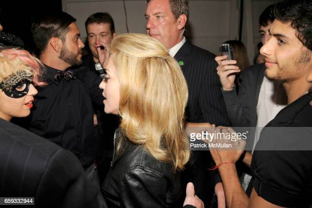 Lady GaGa Madonna and Jesus Luz attend MARC JACOBS Spring 2010 Collection at NY State Armory on September 14 2009 in New York City