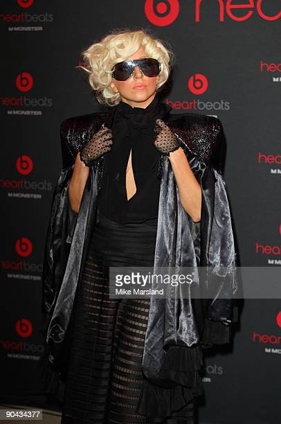 Lady Gaga makes an in-store appearance at HMV to launch new product on September 8, 2009 in London, England.