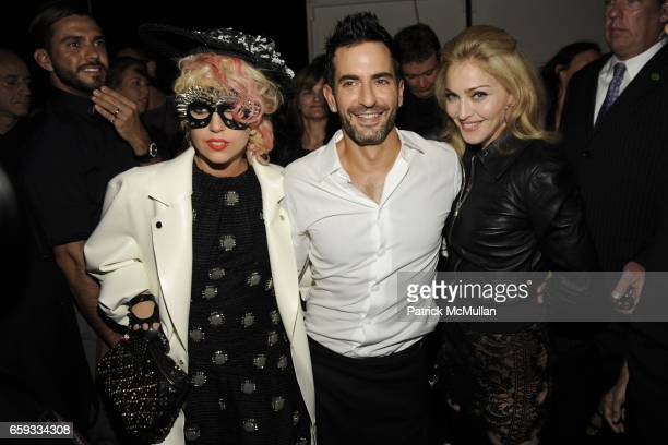 Lady GaGa Marc Jacobs and Madonna attend MARC JACOBS Spring 2010 Collection at NY State Armory on September 14 2009 in New York City