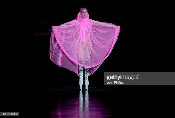 Lady Gaga On The Catwalk During The Philip Treacy Fashion Show Held At The Royal Courts Of Justice As Part Of London Fashion Week