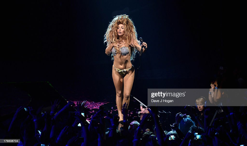 Lady GaGa opens iTunes Festival at The Roundhouse on September 1, 2013 in London, England.