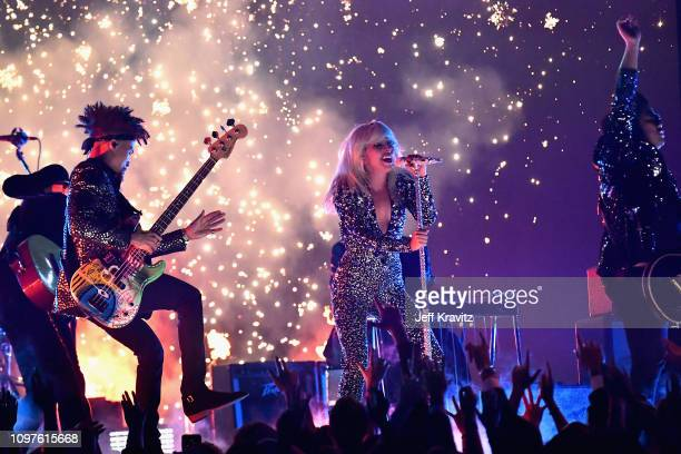 Lady Gaga perfoms onstage during the 61st Annual GRAMMY Awards at Staples Center on February 10 2019 in Los Angeles California