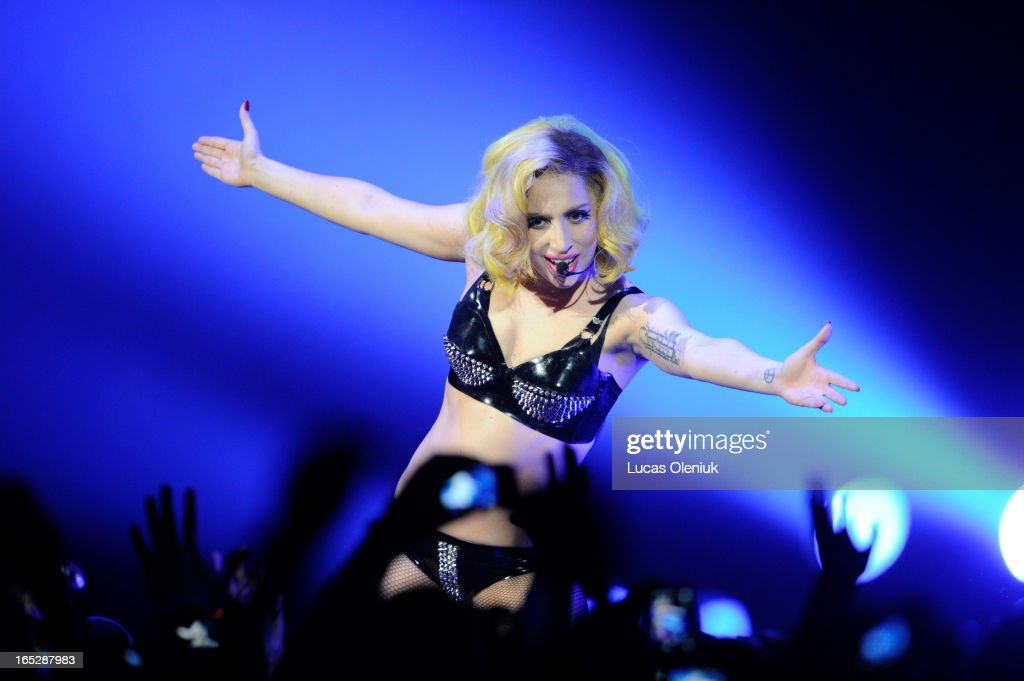 Lady Gaga performed at the ACC Sundayt night in Toronto.| : News Photo