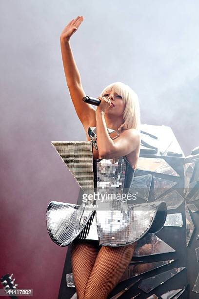 Lady Gaga performing live on the Other stage during Glastonbury Music Festival in Somerset, Worthy Farm. 26th June 2009. Job: 70882 Ref: EWT -