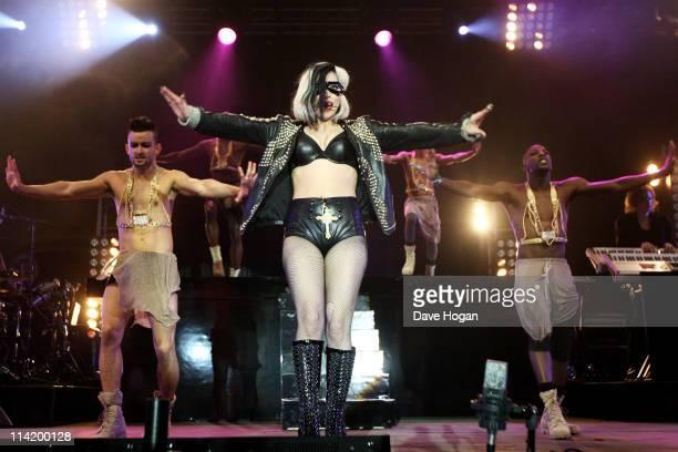 Lady Gaga performs at Radio 1's Big Weekend 2011 at Carlisle Airport on May 15 2011 in Carlisle England