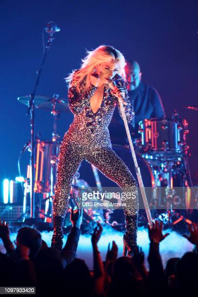 Lady Gaga performs at THE 61ST ANNUAL GRAMMY AWARDS broadcast live from the STAPLES Center in Los Angeles Sunday Feb 10 on the CBS Television Network