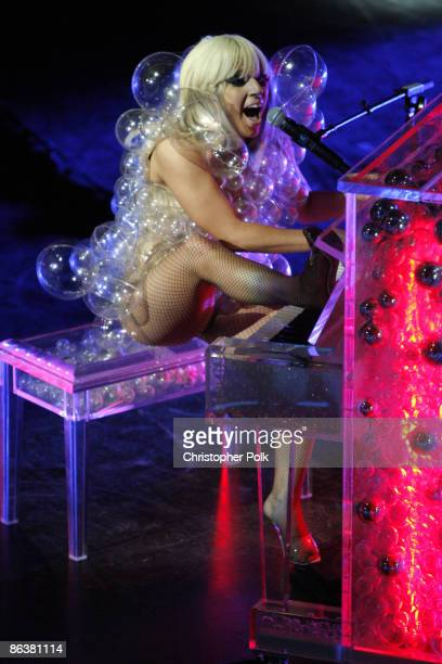 Lady Gaga performs at The GRAMMY Celebration Concert Tour presented by TMobile Sidekick at House of Blues in Boston MA on May 4 2009