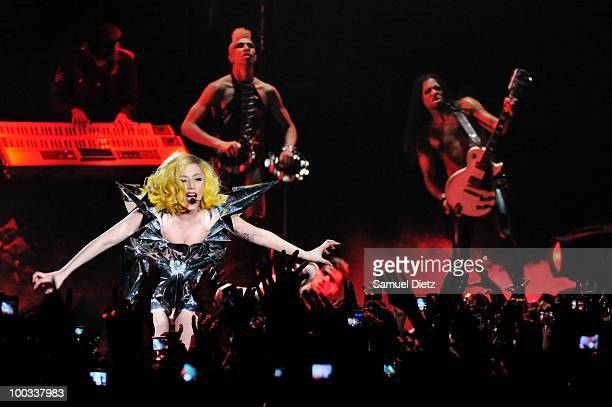 Lady Gaga performs at the Palais Omnisports de Bercy on May 22, 2010 in Paris, France.