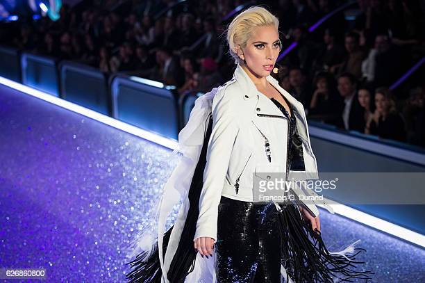 Lady Gaga performs at the Victoria's Secret Fashion Show on November 30 2016 in Paris France the 2016 Victoria's Secret Fashion Show on November 30...