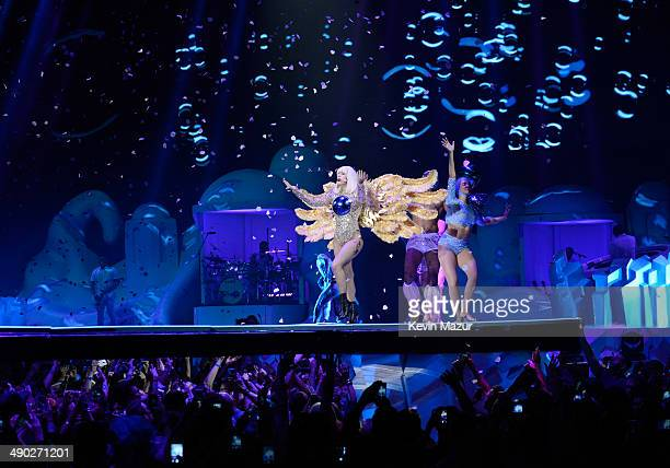 Lady Gaga performs during her 'artRave The Artpop Ball' tour at Madison Square Garden on May 13 2014 in New York City