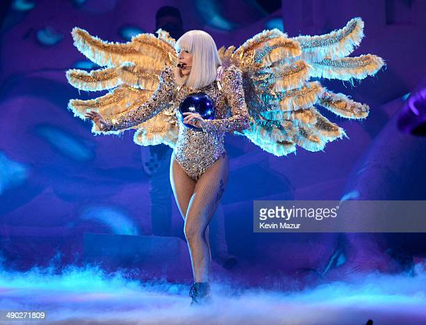 """Lady Gaga performs during her """"artRave: The Artpop Ball"""" tour at Madison Square Garden on May 13, 2014 in New York City."""