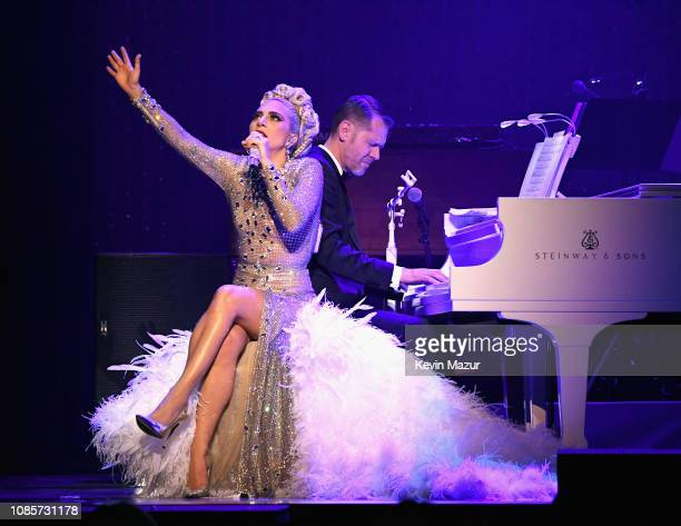 Lady Gaga performs during her 'JAZZ PIANO' residency at Park Theater at Park MGM on January 20 2019 in Las Vegas Nevada