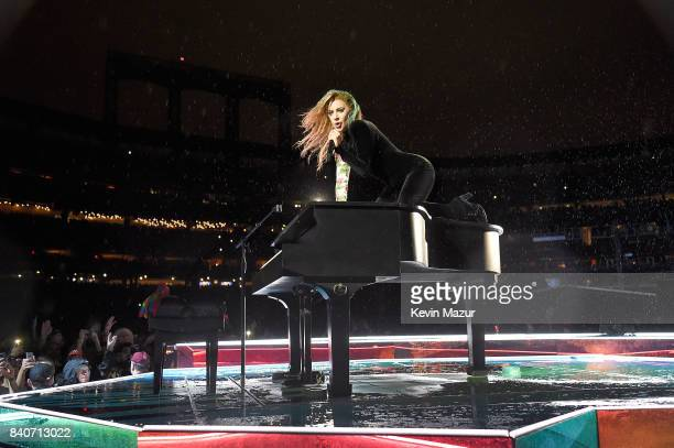 Lady Gaga performs during her 'Joanne' World Tour at Citi Field on August 29 2017 in New York New York