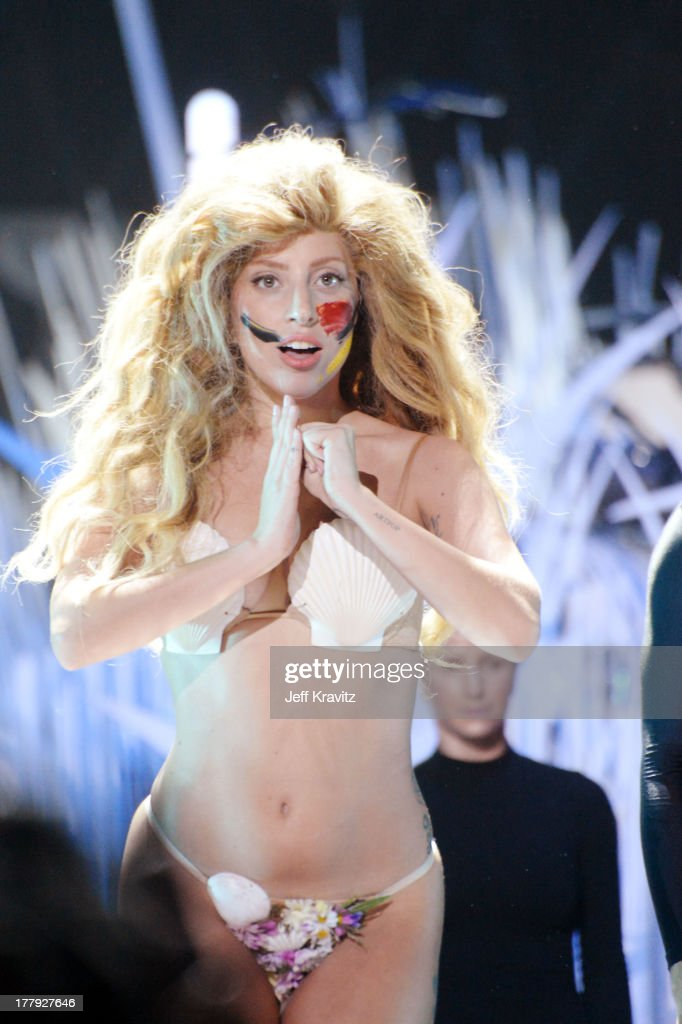 Lady Gaga performs during the 2013 MTV Video Music Awards at the Barclays Center on August 25, 2013 in the Brooklyn borough of New York City.