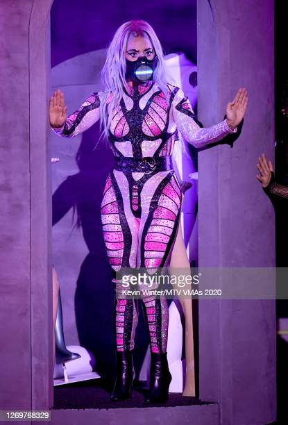 Lady Gaga performs during the 2020 MTV Video Music Awards broadcast on Sunday August 30th 2020