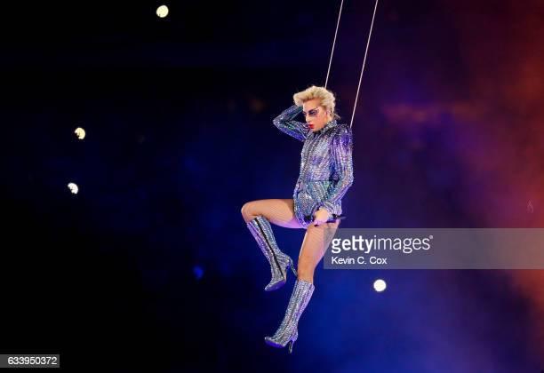 Lady Gaga performs during the Pepsi Zero Sugar Super Bowl 51 Halftime Show at NRG Stadium on February 5, 2017 in Houston, Texas.