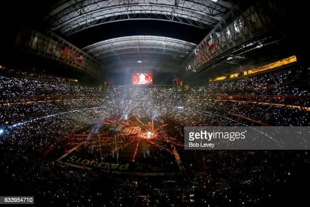Lady Gaga performs during the Pepsi Zero Sugar Super Bowl 51 Halftime Show at NRG Stadium on February 5 2017 in Houston Texas