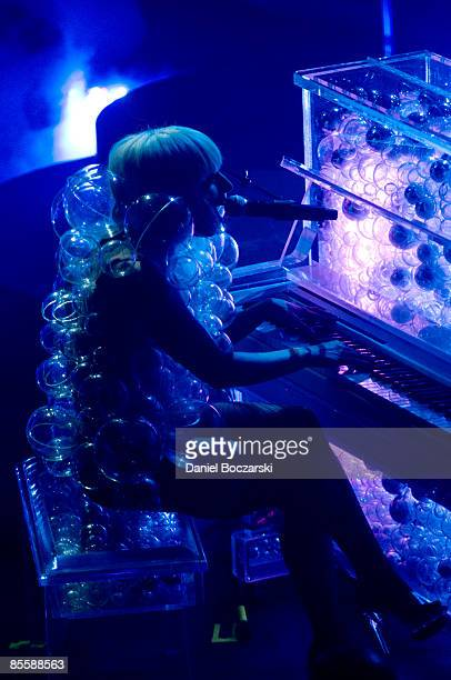 Lady Gaga performs live during the Fame Ball Tour at House of Blues on March 24, 2009 in Chicago, Illinois.