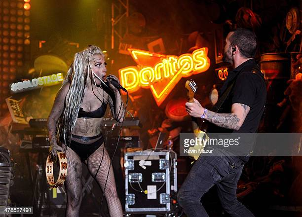 Lady Gaga performs on the Doritos #BoldStage at Stubb's Bar-B-Q in an exclusive performance celebrating her Born This Way Foundation on Thursday,...
