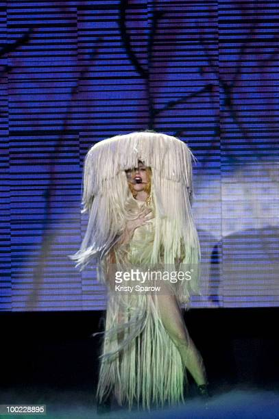 Lady Gaga performs onstage at Palais Omnisports de Bercy on May 21, 2010 in Paris, France.