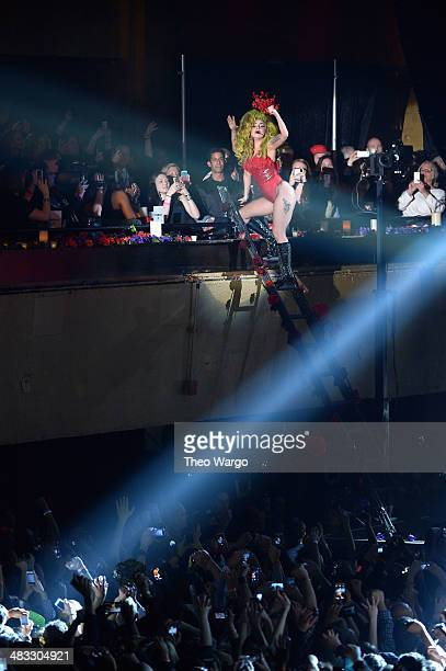 Lady Gaga performs onstage at Roseland Ballroom on April 7 2014 in New York City