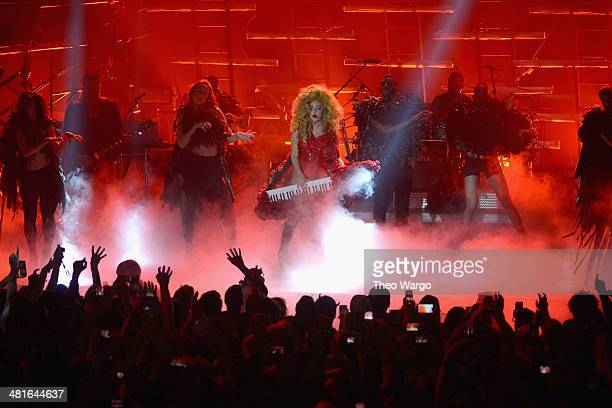 Lady Gaga performs onstage at Roseland Ballroom on March 30 2014 in New York City