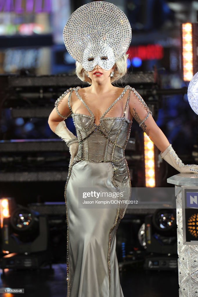 Lady Gaga performs onstage during Dick Clark's New Year's Rockin' Eve with Ryan Seacrest 2012 at Times Square on December 31, 2011 in New York City.