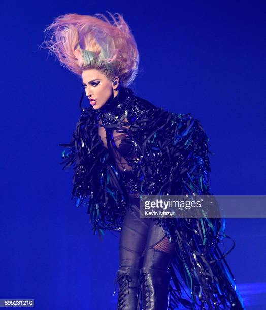 Lady Gaga performs onstage during her 'Joanne' tour at The Forum on December 18 2017 in Inglewood California