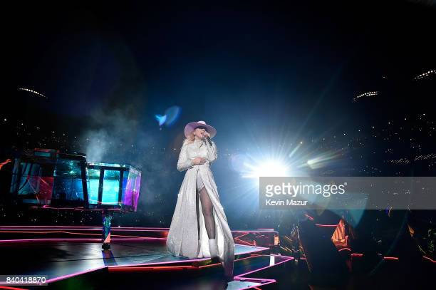 Lady Gaga performs onstage during her 'Joanne' World Tour at Citi Field on August 28 2017 in New York New York