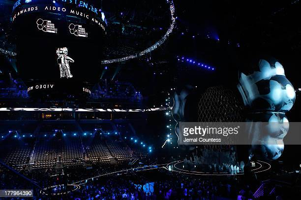 Lady Gaga performs onstage during the 2013 MTV Video Music Awards at the Barclays Center on August 25, 2013 in the Brooklyn borough of New York City.