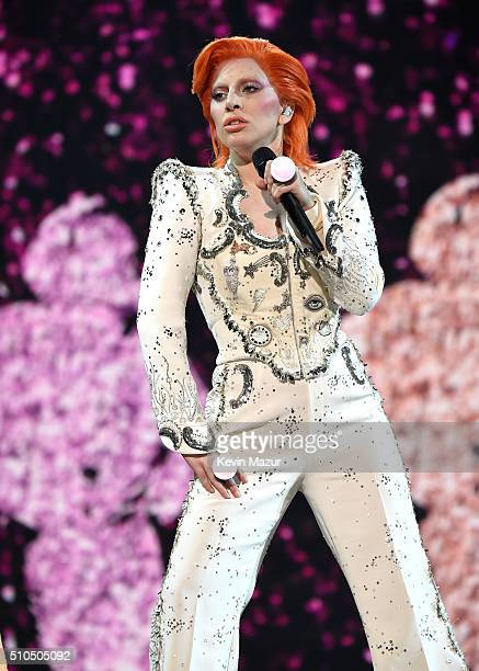 Lady Gaga performs onstage during The 58th GRAMMY Awards at Staples Center on February 15 2016 in Los Angeles California