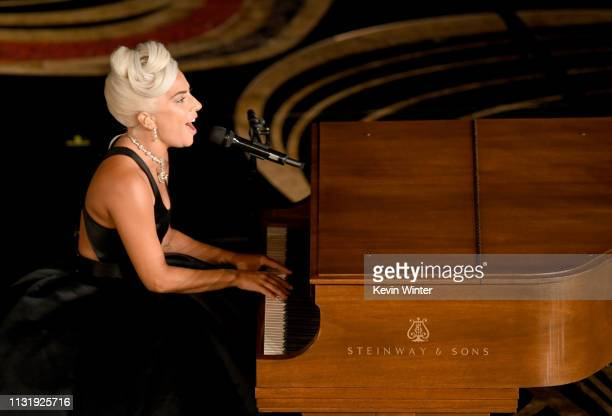 Lady Gaga performs onstage during the 91st Annual Academy Awards at Dolby Theatre on February 24 2019 in Hollywood California