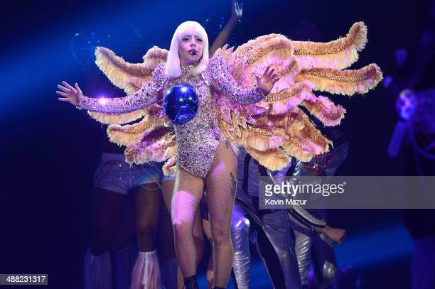 Lady Gaga performs onstage during 'The ARTPOP Ball' tour opener at BBT Center on May 4 2014 in Sunrise Florida