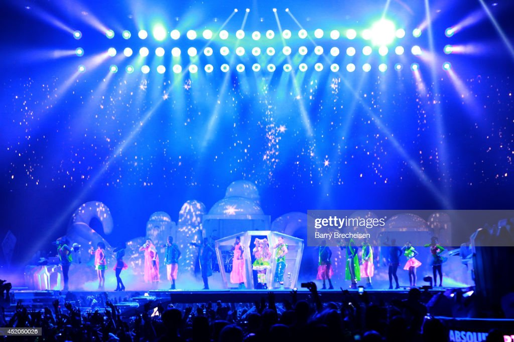 Lady Gaga performs onstage during the 'artRave: The Artpop Ball' tour at the United Center on July 11, 2014 in Chicago, Illinois.