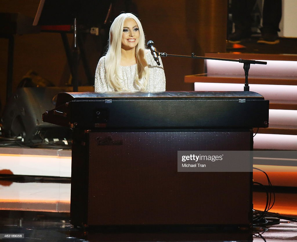 Lady Gaga performs onstage during the Stevie Wonder: Songs In The Key Of Life - An All-Star GRAMMY Salute held at Nokia Theatre L.A. Live on February 10, 2015 in Los Angeles, California.