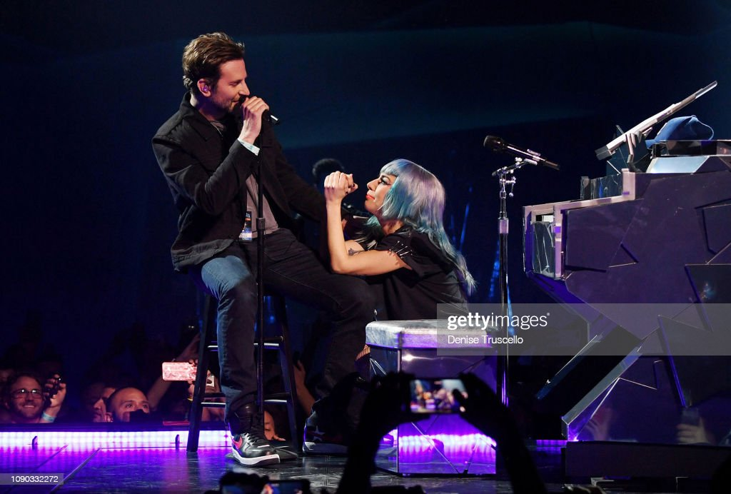 Lady Gaga And Bradley Cooper At Park Theater At Park MGM In Las Vegas : News Photo