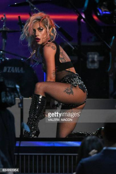 Lady Gaga performs with Metallica onstage during the 59th Annual Grammy music Awards on February 12 in Los Angeles California Lady Gaga has stepped...