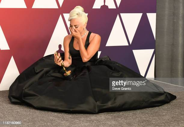 Lady Gaga poses at the 91st Annual Academy Awards at Hollywood and Highland on February 24 2019 in Hollywood California