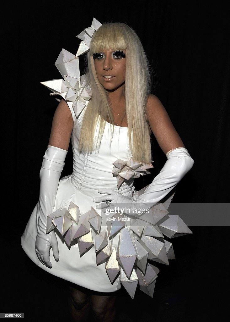 Lady GaGa poses backstage during Z100's Jingle Ball 2008 Presented by H&M at Madison Square Garden on December 12, 2008 in New York City. *EXCLUSIVE*