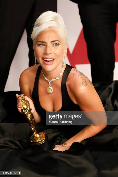 Lady Gaga poses in the press room at the 91st Annual Academy Awards at the Dolby Theatre in Hollywood California on February 24 2019