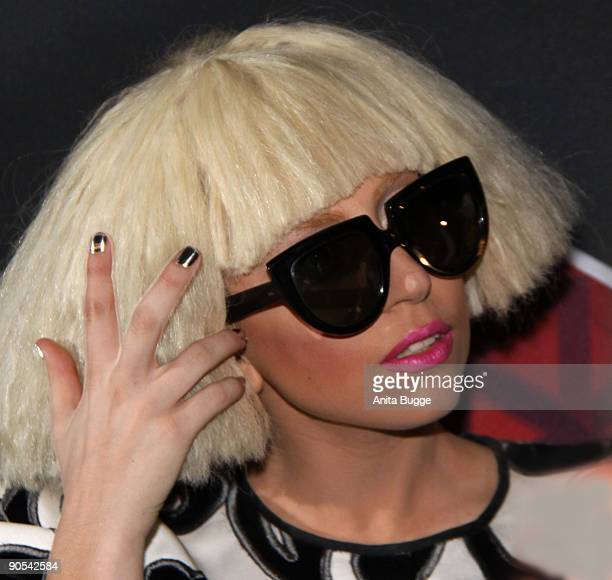 Lady Gaga presents cooperation with 'Monster Cable' at IFA fair on September 7, 2009 in Berlin, Germany.