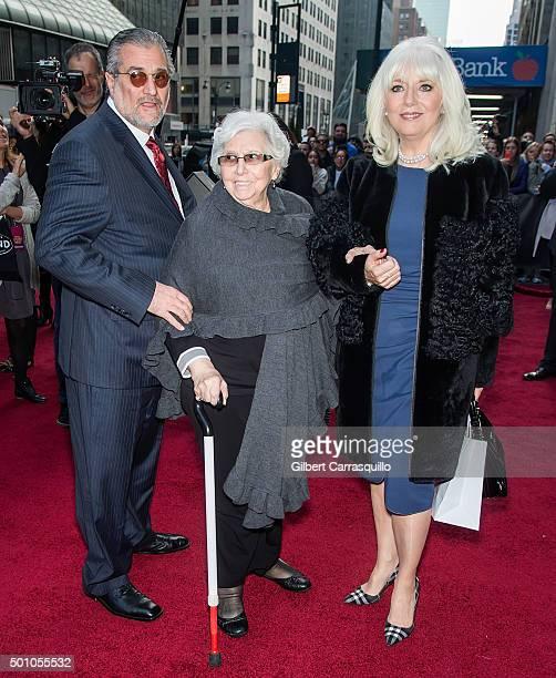 Lady Gaga 's father Joe Germanotta grandmother Angelina Calderone Germanotta and mother Cynthia Germanotta attend Billboard's 10th Annual Women In...