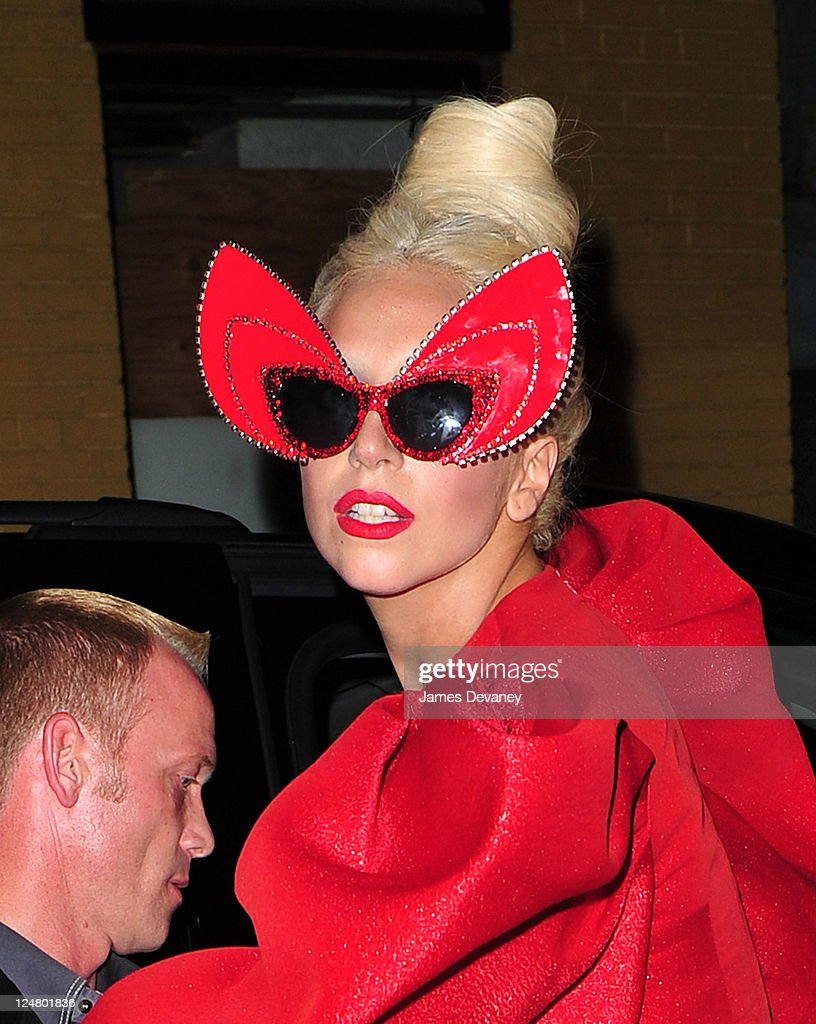 Lady Gaga seen in the Meatpacking District on September 12, 2011 in New York City.
