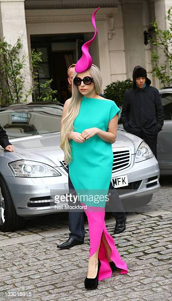 Lady Gaga seen leaving her hotel on November 16 2011 in London England