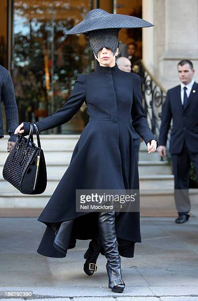 Lady Gaga seen leaving her hotel on October 30 2013 in London England