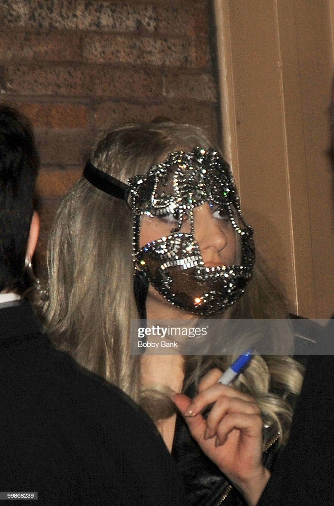 Lady GaGa seen leaving the Almay Concert to celebrate the Rainforest Fund's 21st birthday at Carnegie Hall in Manhattan on May 13, 2010 in New York City.