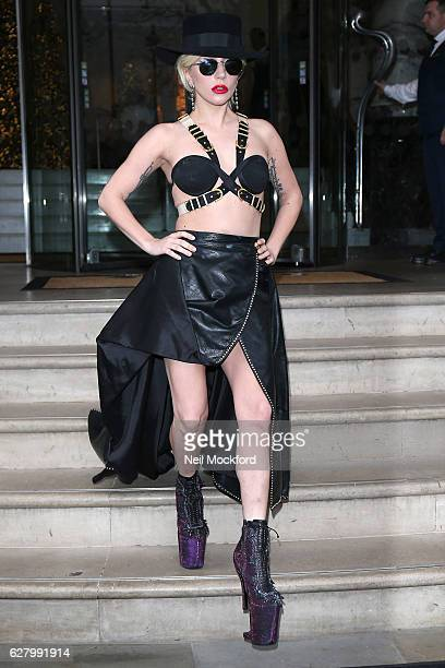 Lady Gaga seen leaving The Langham Hotel on December 6 2016 in London England