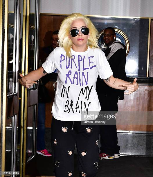 Lady Gaga seen on the streets of Manhattan on November 10 2016 in New York City